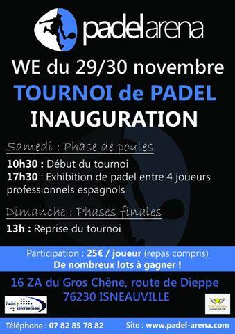 Torneio de inauguração da PADEL ARENA