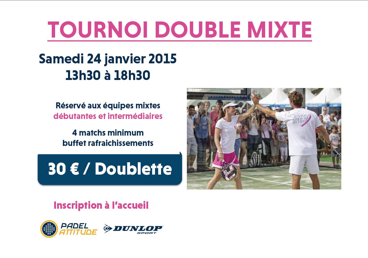 Tournoi mixte – Padel Attitude – 24/01