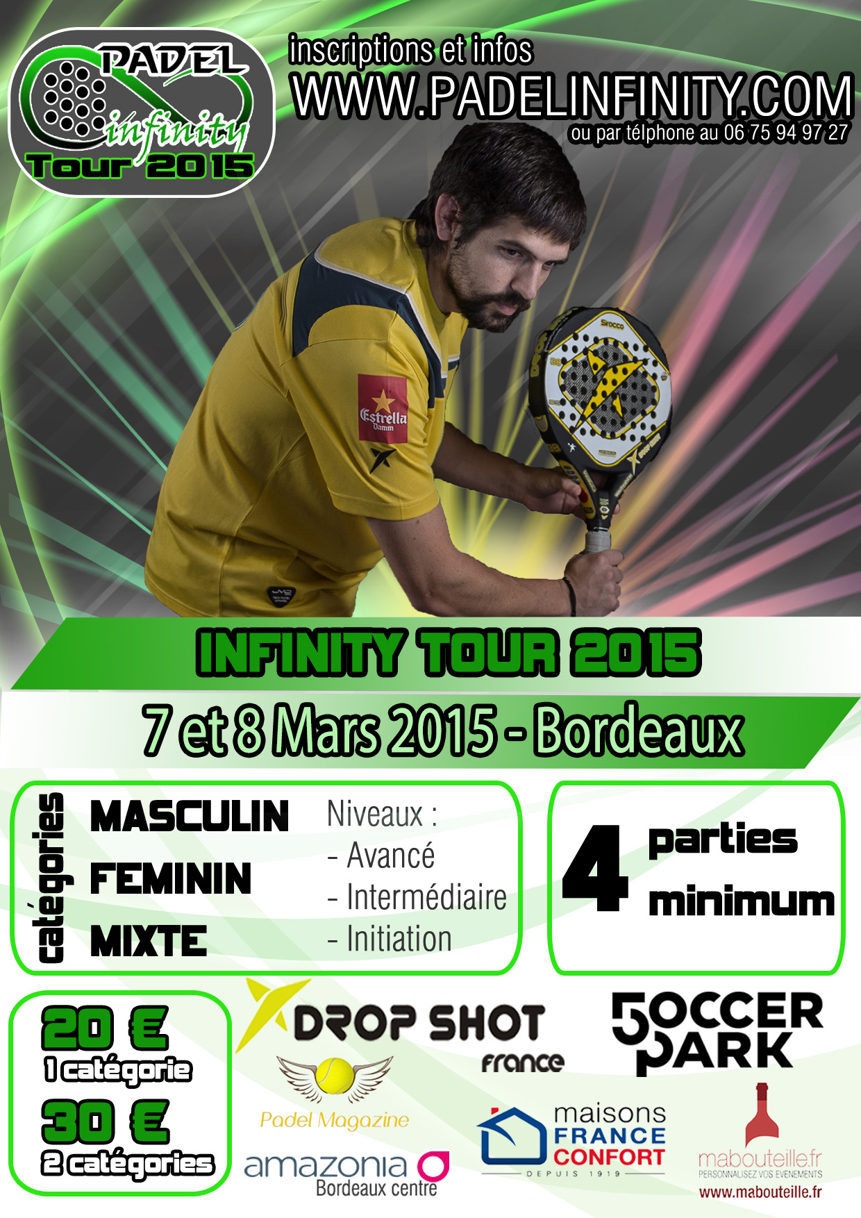 2th Stage Padel Infinity 2015-Turm - 7 / 8 Mars 2015
