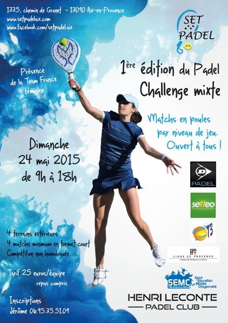 1ere édition du padel Challenge mixte