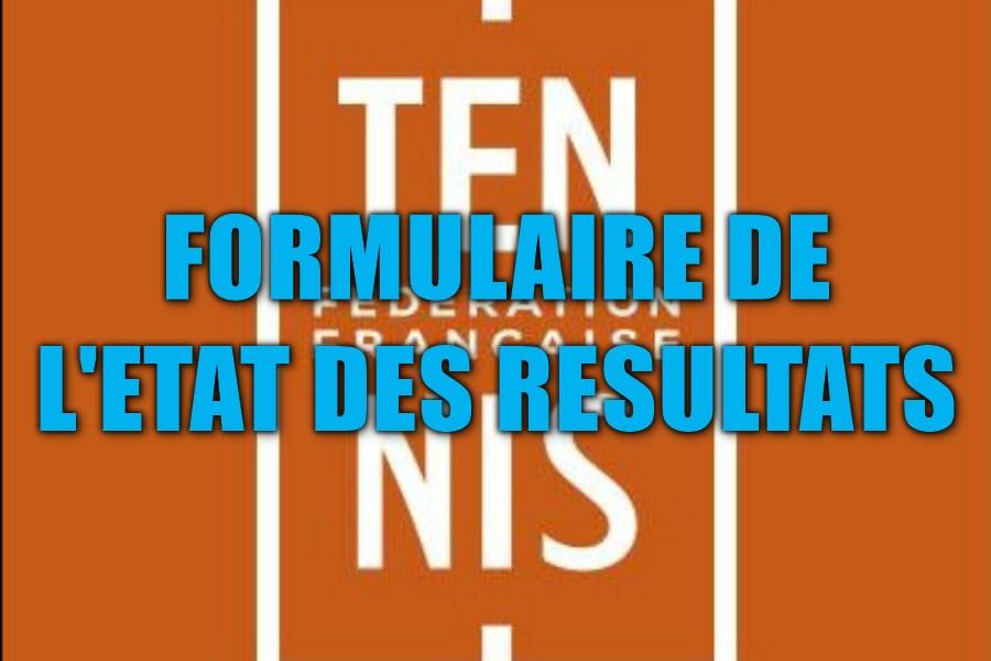 FFT logo état des résultats padel