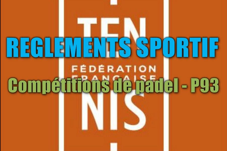 règlements compétitions de padel
