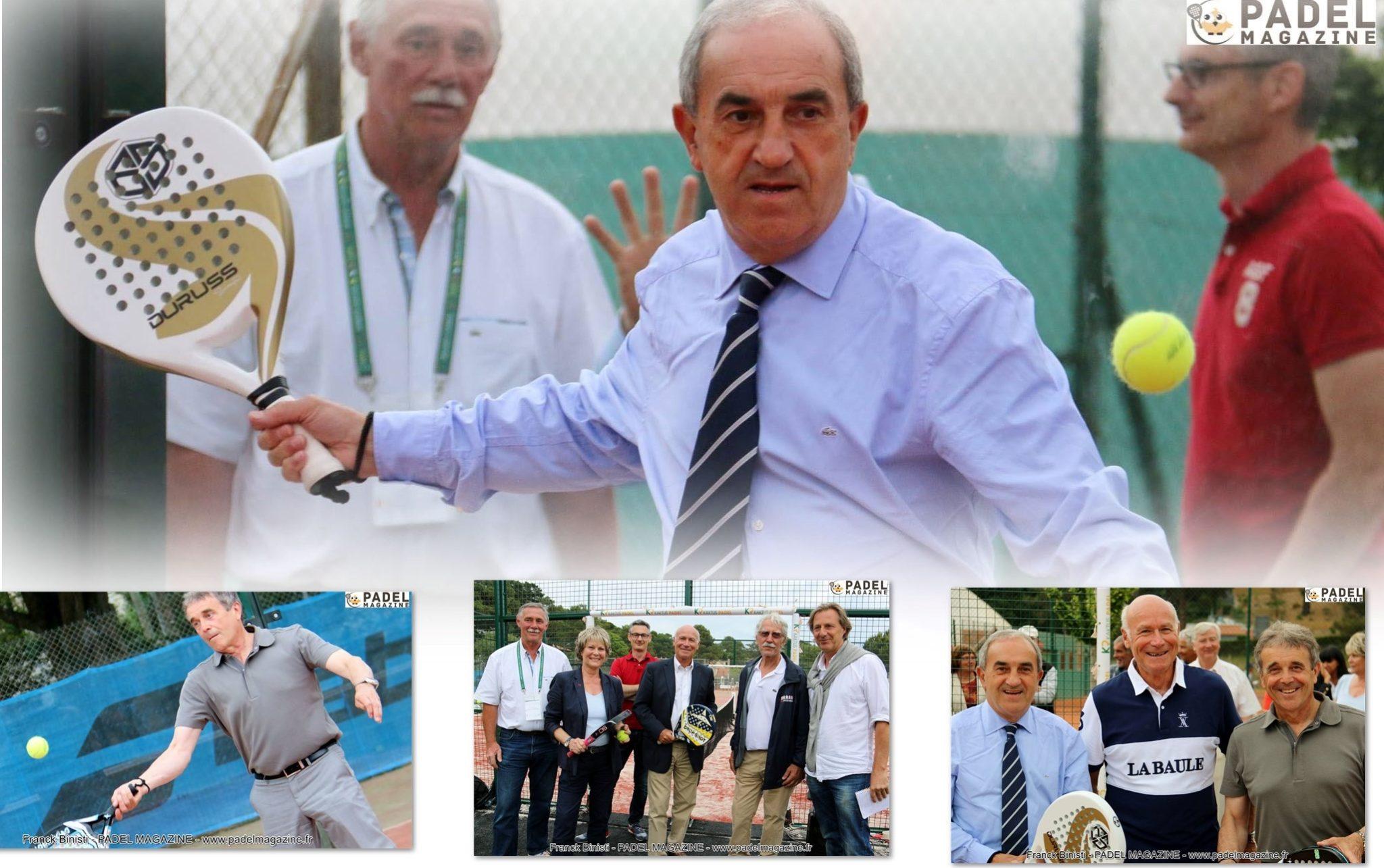 Jean Gachassin et Jean-Pierre Dartevelle inaugurent le padel à la Baule