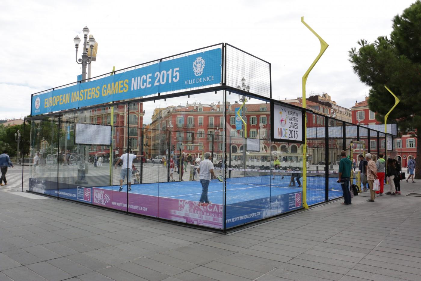 Du Padel à Nice à l'European Master Games