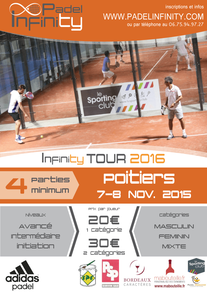 3th Stage Padel Infinity 2016 Tour - Sporting Club Poitiers