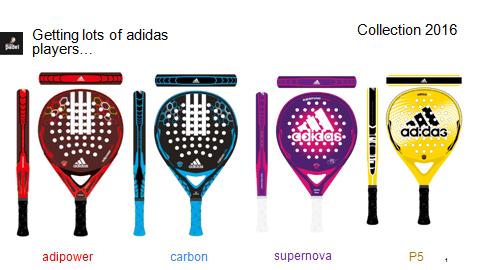 raquetes de equipamentos da adidas