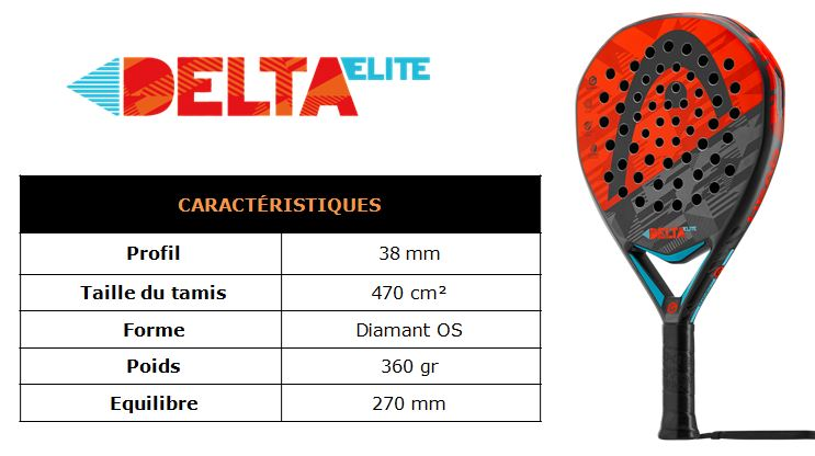 Delta Elite Head padel 2016