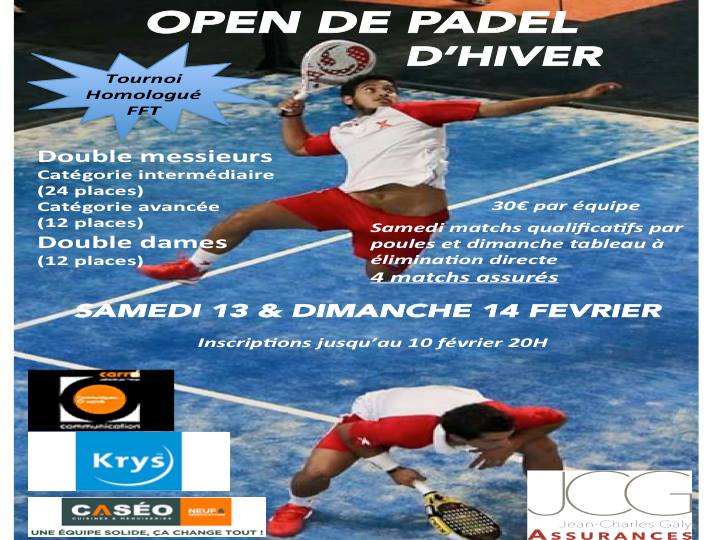 Open winter padel club house