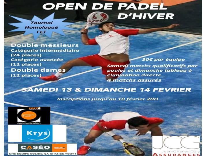 Open hiver padel club du mas