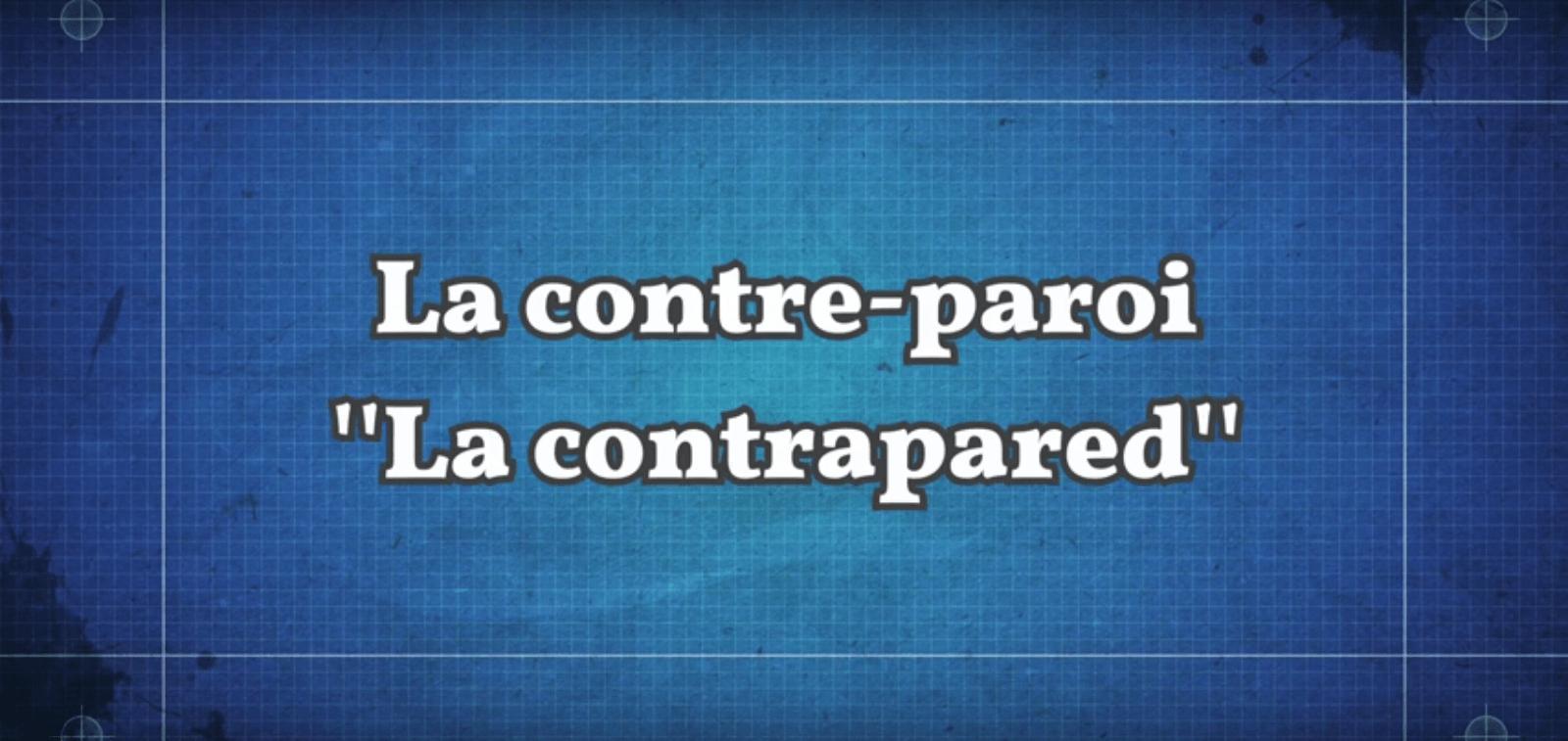 """La contre-paroi ou """"contrapared"""" : coup de défense contre le mur"""