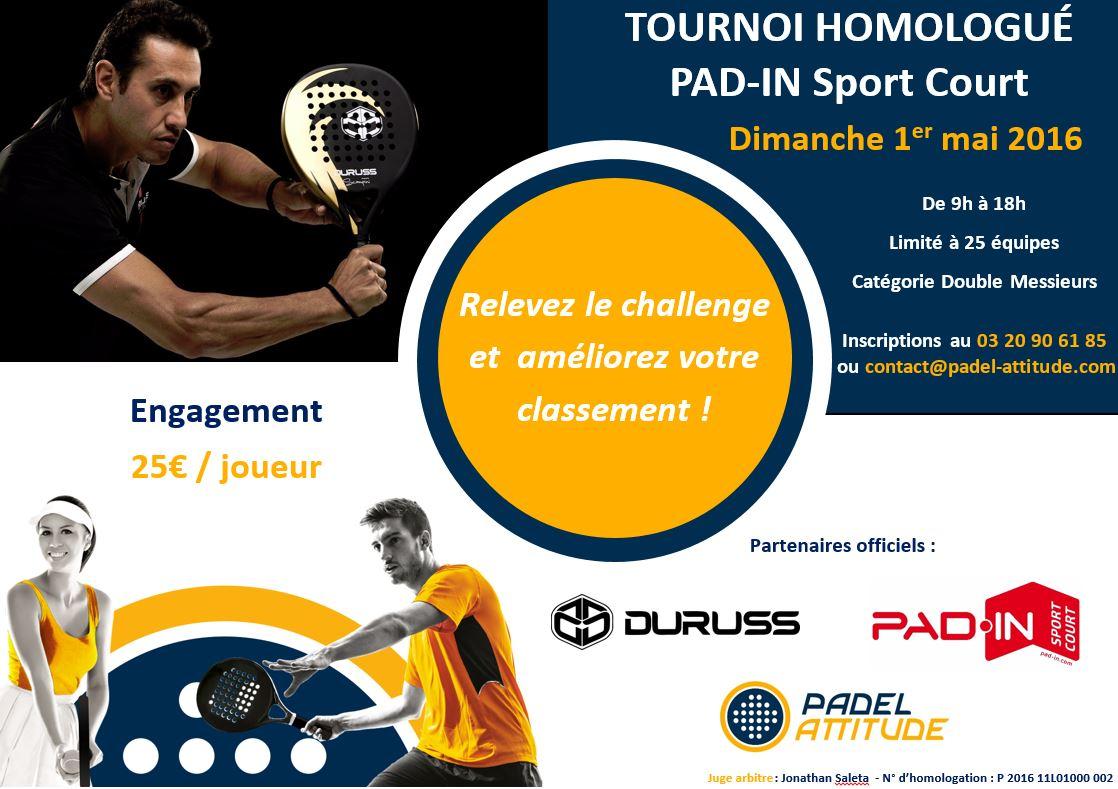 Pad-in / Duruss tiene su torneo de FFT en Padel Actitud
