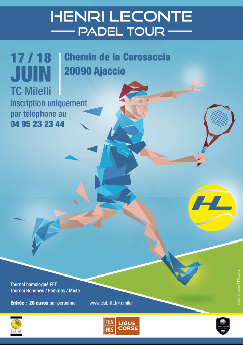 poster Henri leconte padel tower Milelli