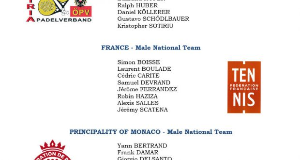Liste des joueurs padel qualifications monde 2016
