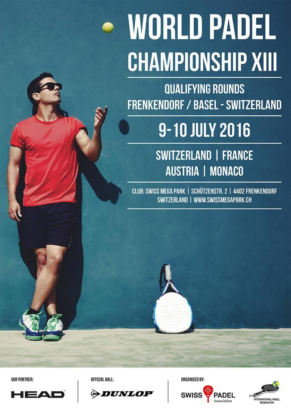padel-världsmästerskapet 2016 kvalificeringsplakat