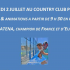 affiche country club padel exhibition