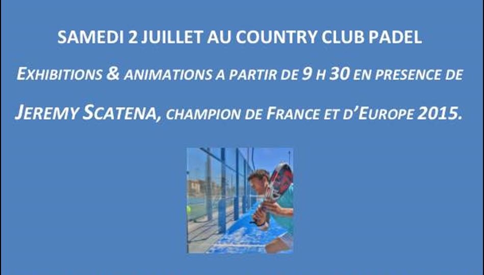 Jérémy Scatena fait son show au Country Club Padel – Aix