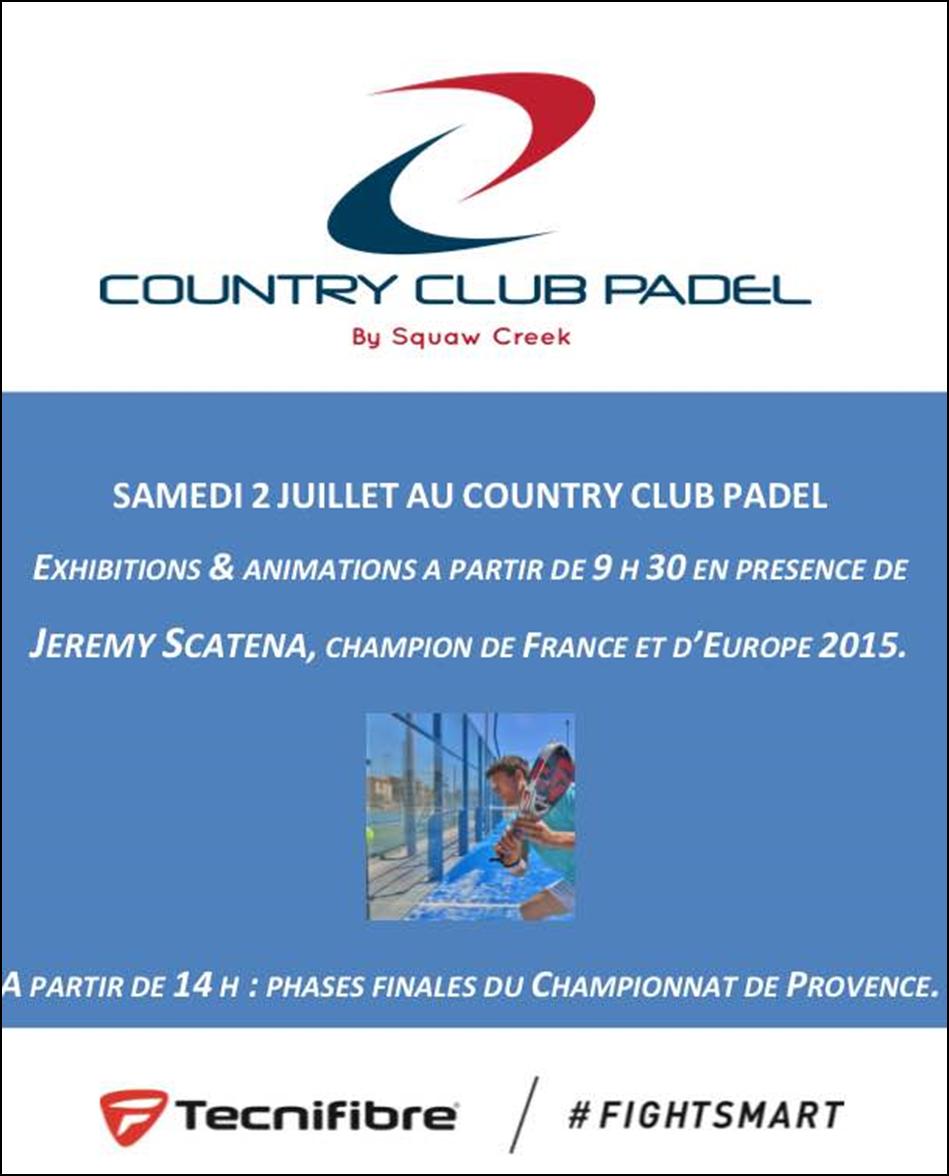 cartaz de exibição de padel de clube de campo