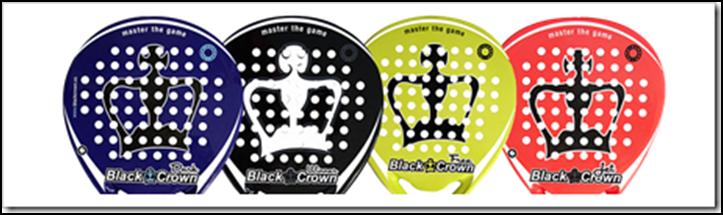 modèles raquettes de padel black crown