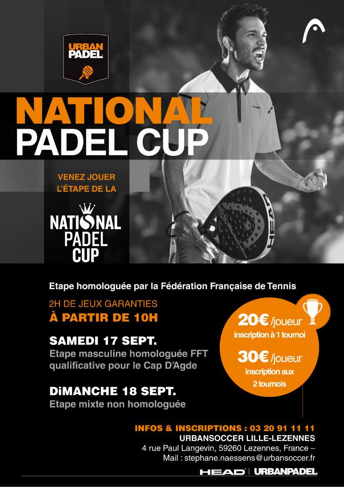 urbanpadel national padel cup lille 2016 - Copie