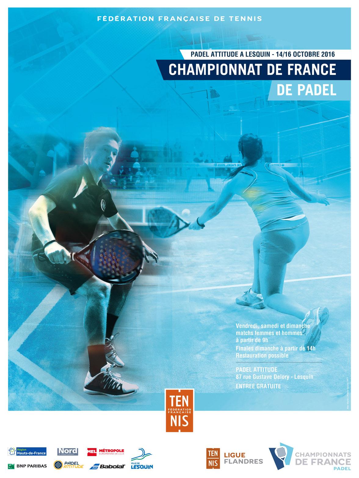 Poster-campeonatos-de-France de paddle-2016