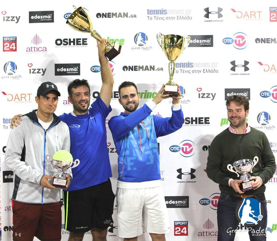 Nos français remportent le premier tournoi international du Greek Padel Academy