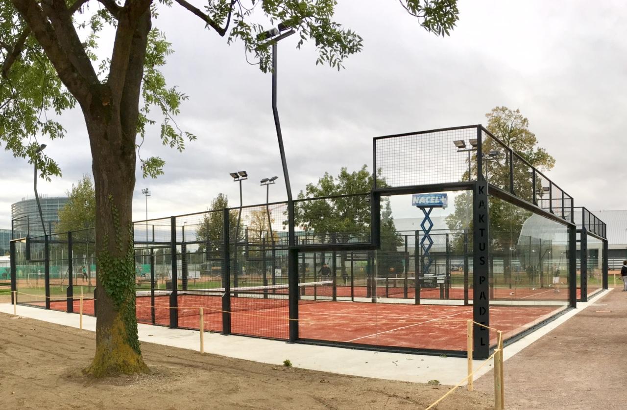 2 terrains de padel au Tennis Club de Strasbourg