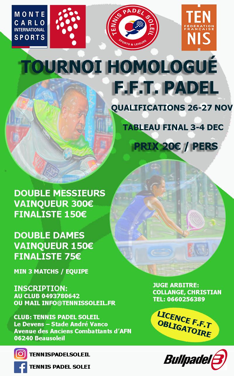 Torneo da paddle-tennis paddle-Sun