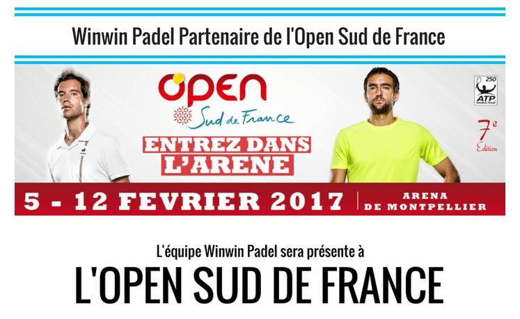 WinWin Padel partenaire de l'Open Sud de France