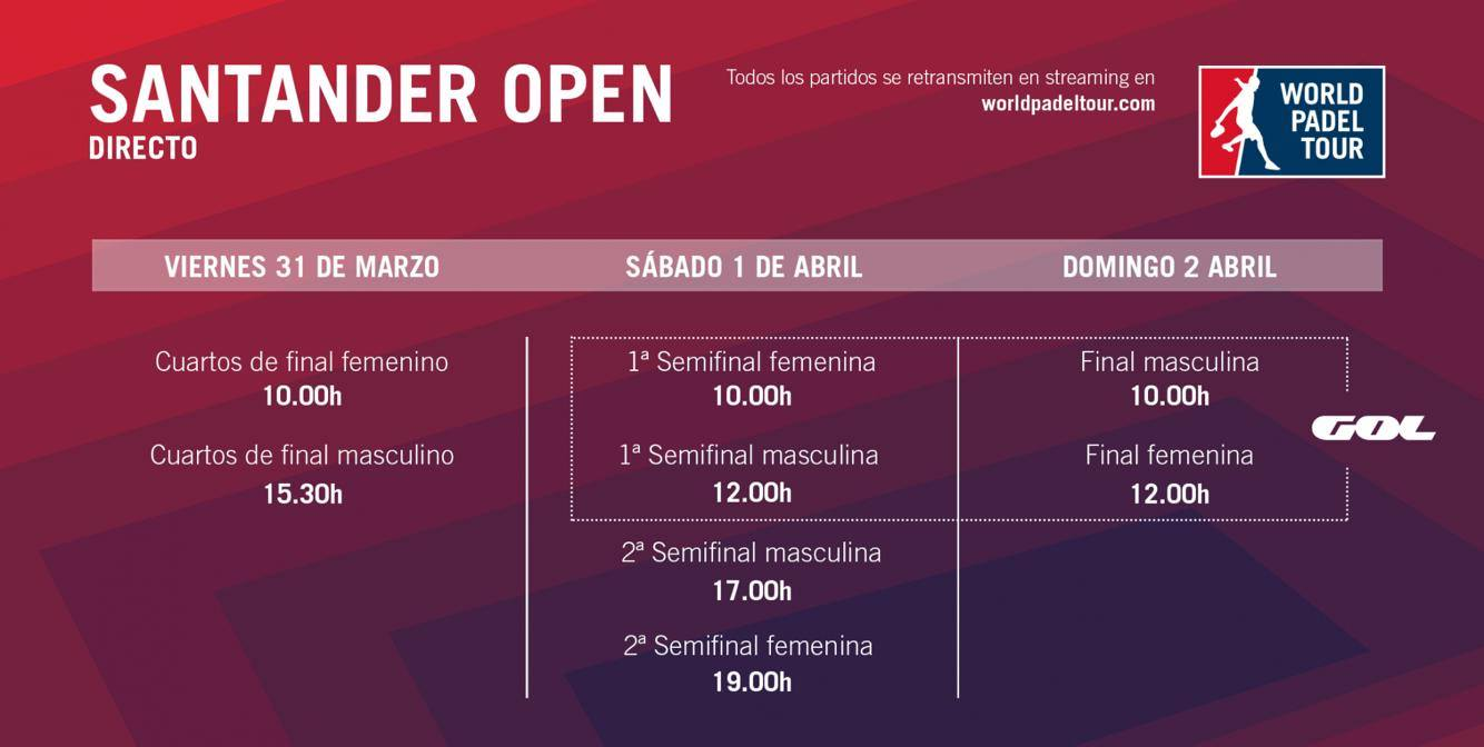 Horaires de retransmissions WPT Santander