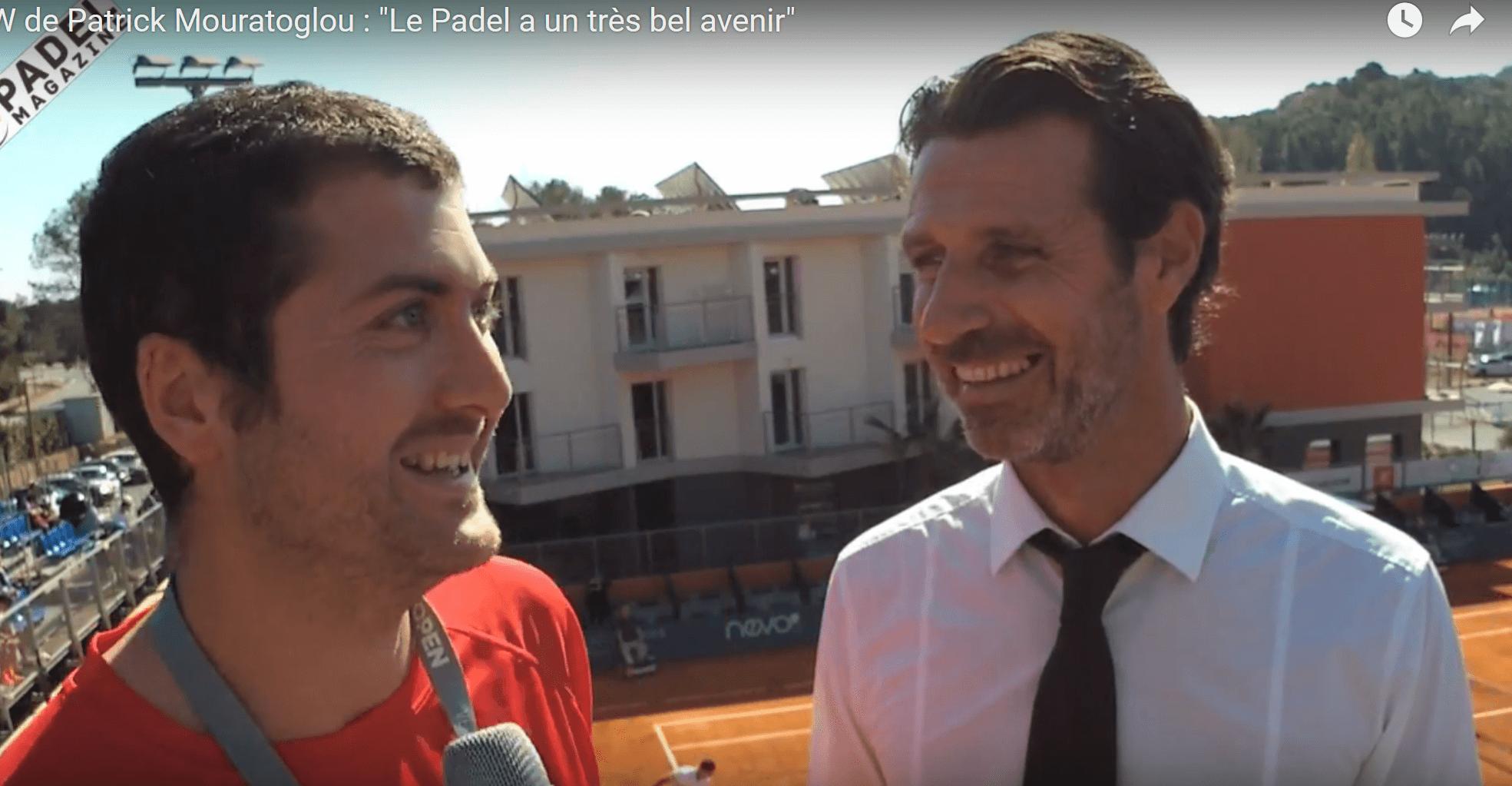"""Patrick Mouratoglou : """"Le Padel a un très bel avenir"""""""