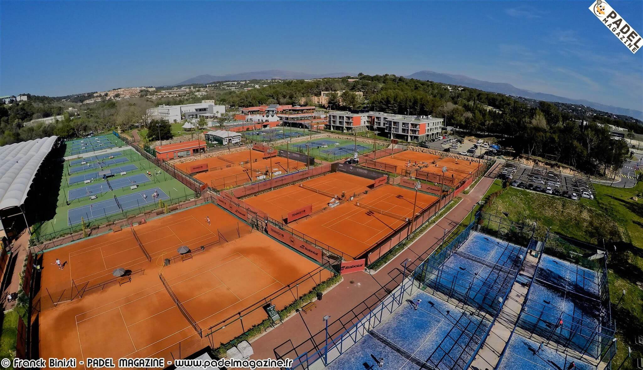 Vu du ciel du Real Padel Club / Mouratoglou Academy