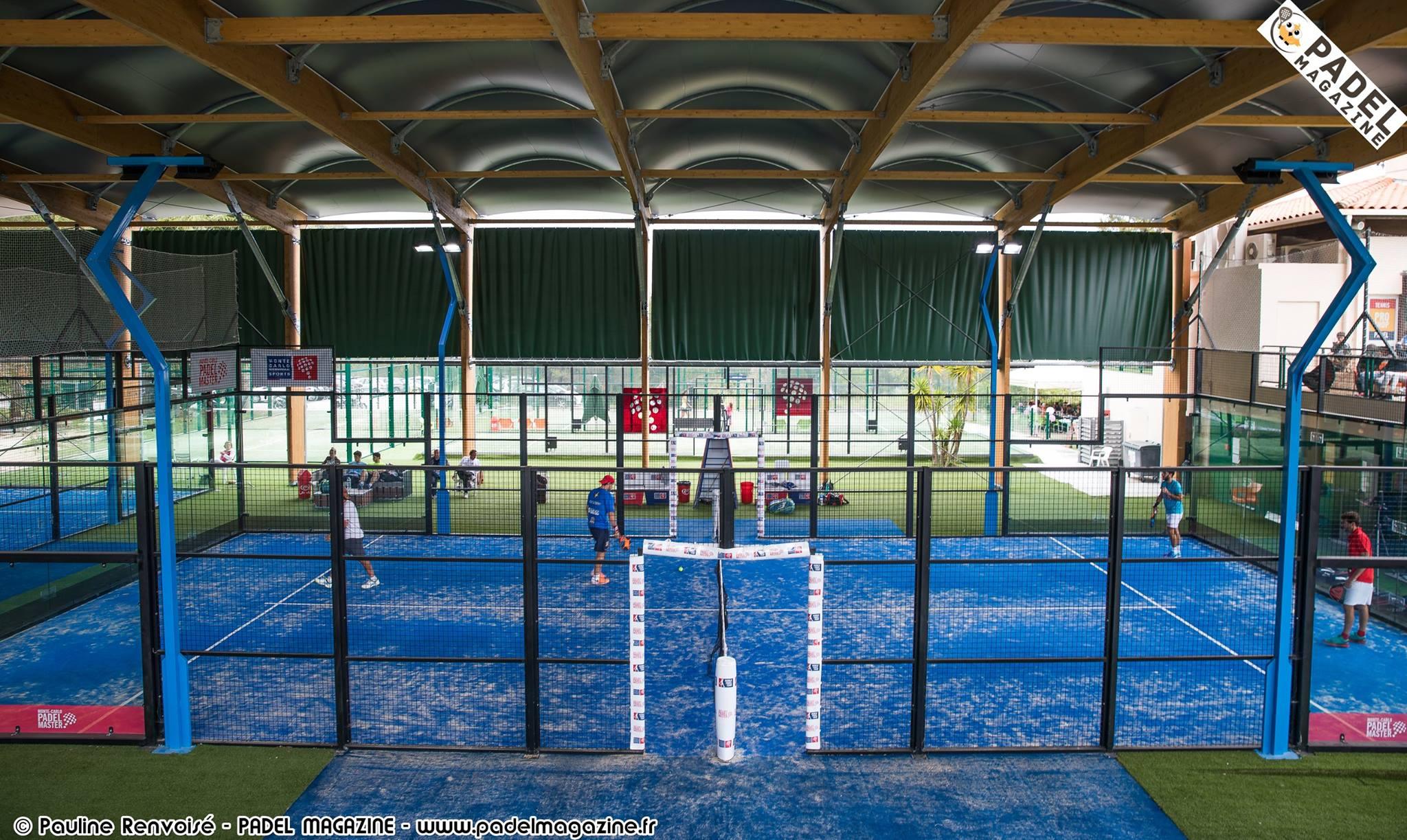 テニスでのフランス対スペイン Padel サン