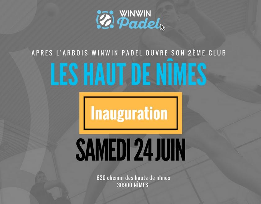 Le NOUVEAU CLUB WINWIN PADEL !