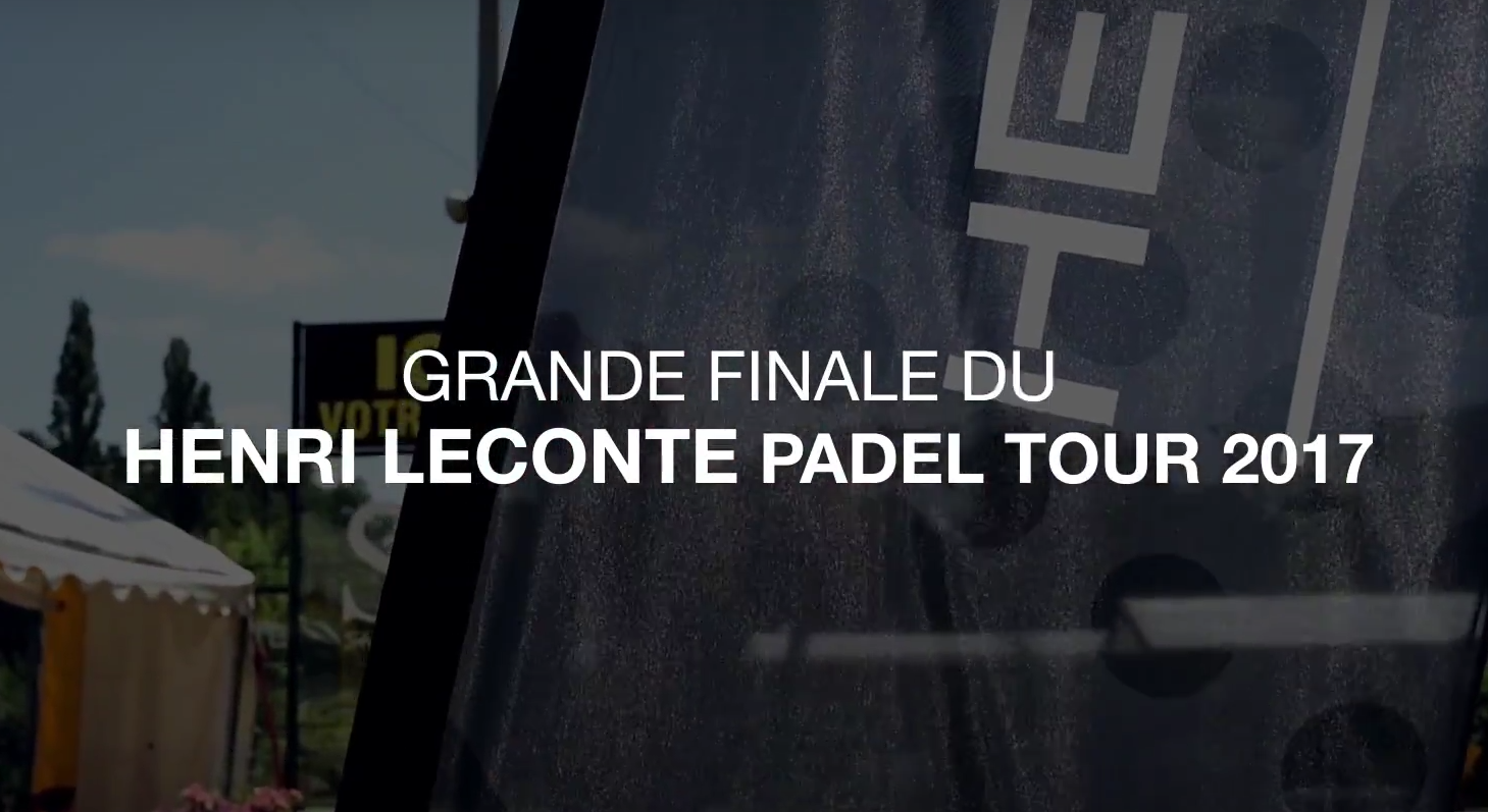 Henri Leconte Final Teasing Padel Tour 2017