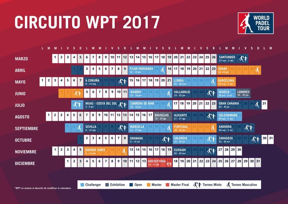 Le sprint final 2017 du World Padel Tour