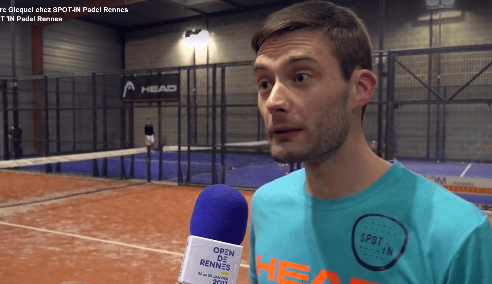 Marc Gicquel brilla a padel a Spot'in Rennes
