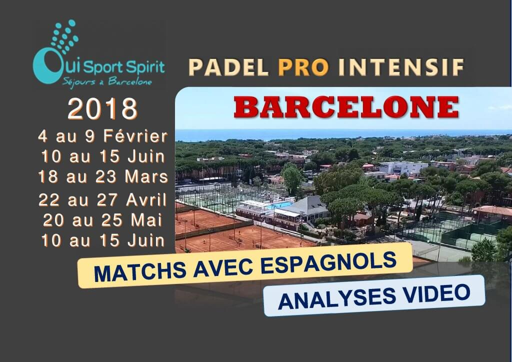 Padel Barcelone stages