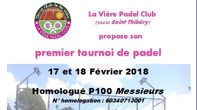 Le 1er tournoi de padel de la Vière Padel Club