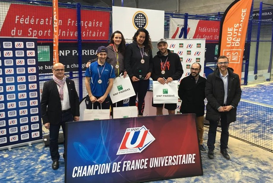 Godallier / Sabatier et De Meyer / Vanbauce : Champions Universitaires de padel