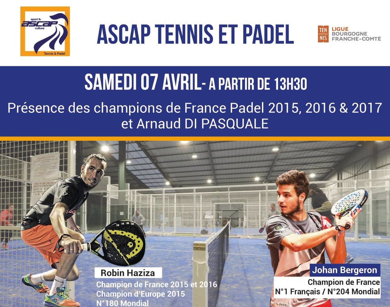L'ASCAP Tennis et Padel inaugure ses terrains