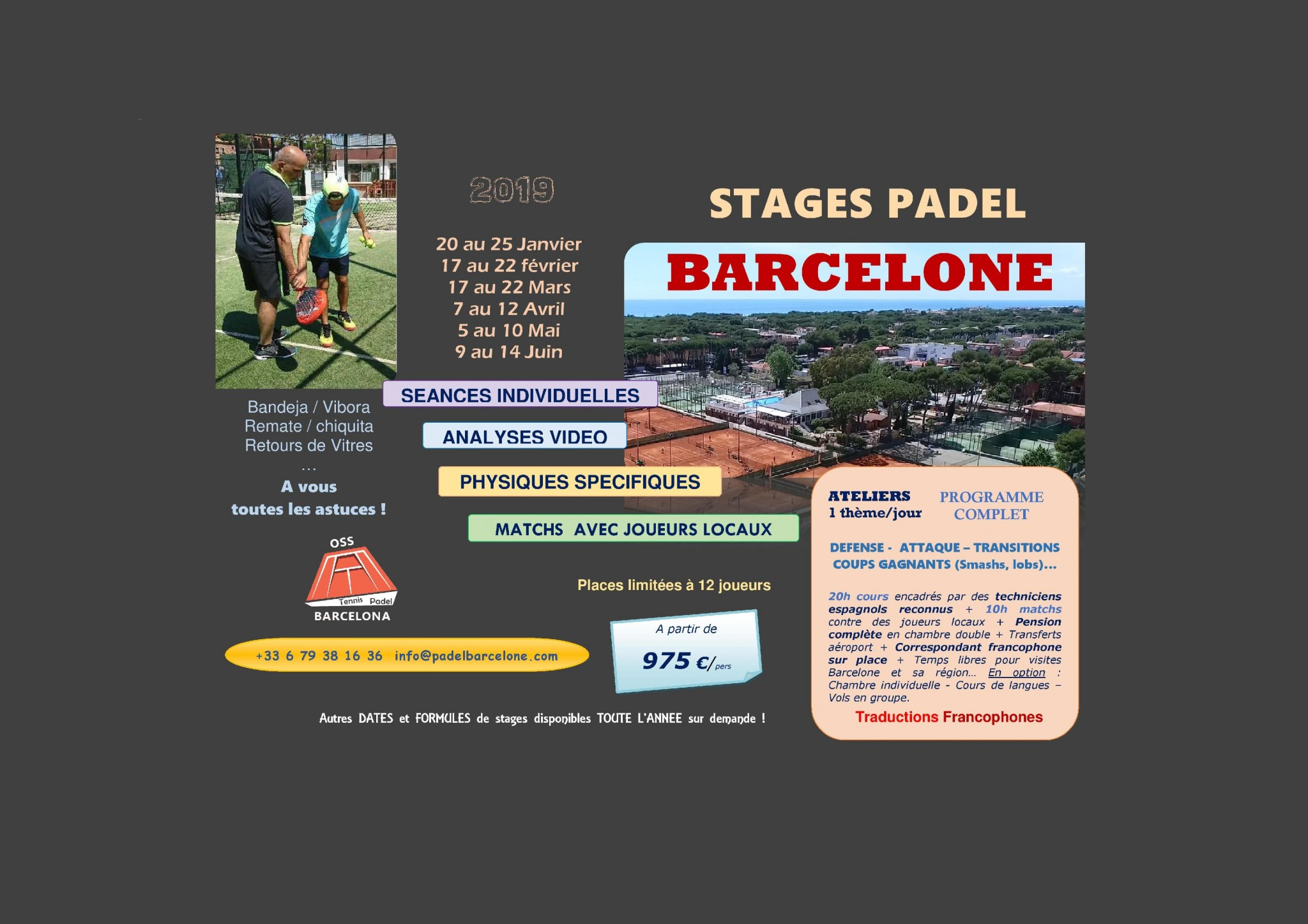 Stage Padel Barcelone – OSS PADEL BARCELONA