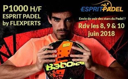 Esprit Padel : Inauguration + P1000 dames  et messieurs – 8,9 et 10 juin