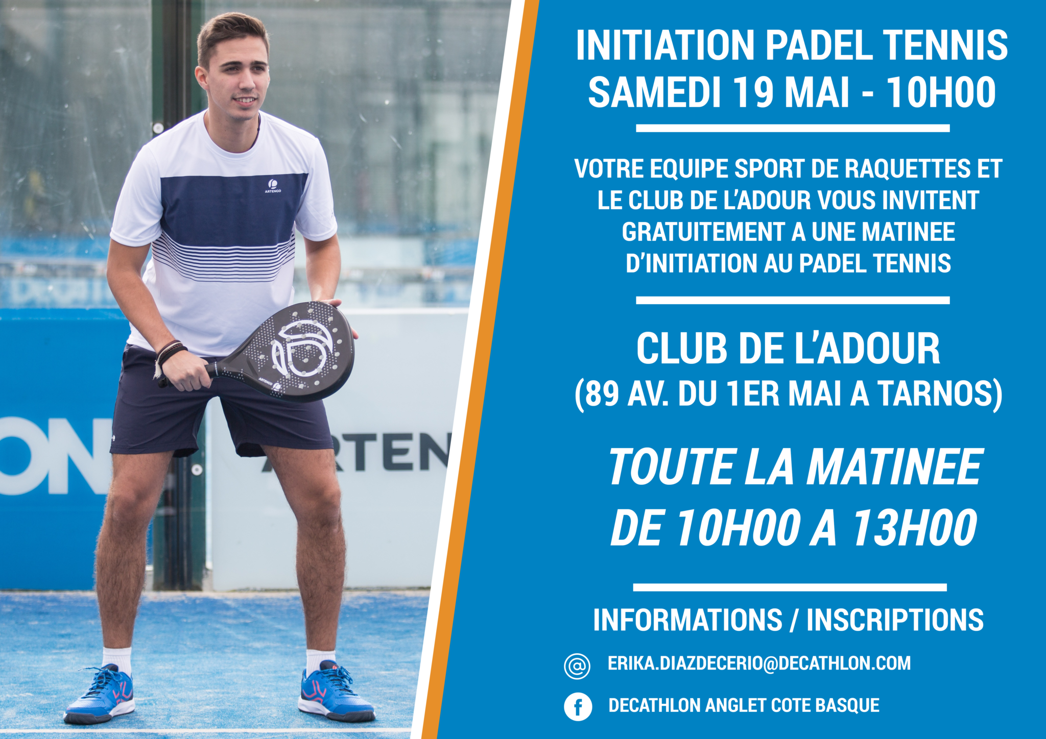 Initiation padel au Club de l'Adour