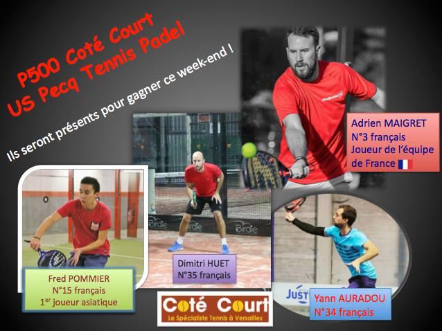 L'Open du Pecq accueille 4 joueurs du top 40 français