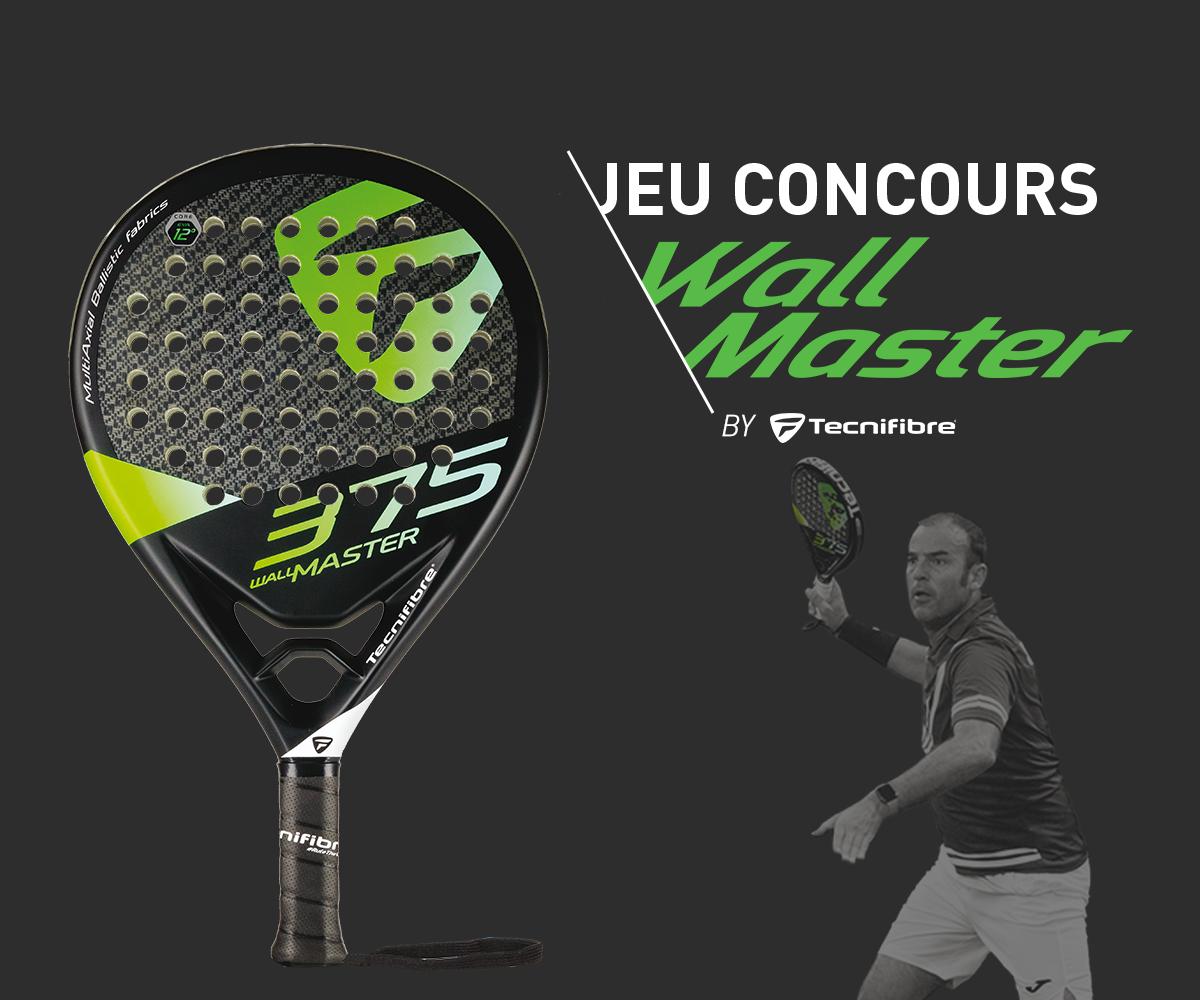 JEU CONCOURS : la toute nouvelle raquette Wall Master 375 de Tecnifibre ça vous tente ?