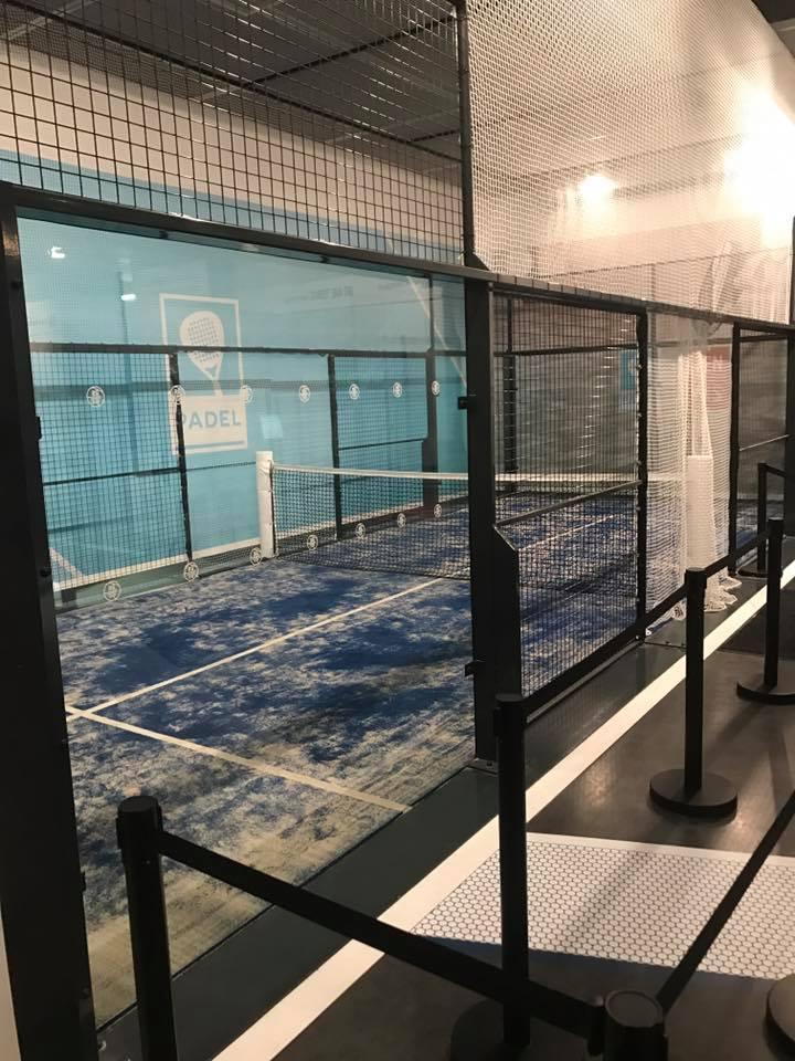 Un mini terrain de padel à Roland Garros