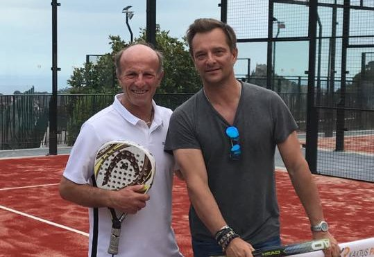 David Haliday au Padel Club Eze