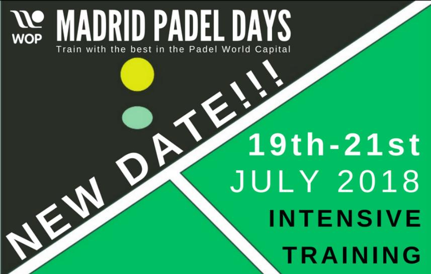 Du 19 au 21 juillet : Madrid Padel Days – Stage Padel