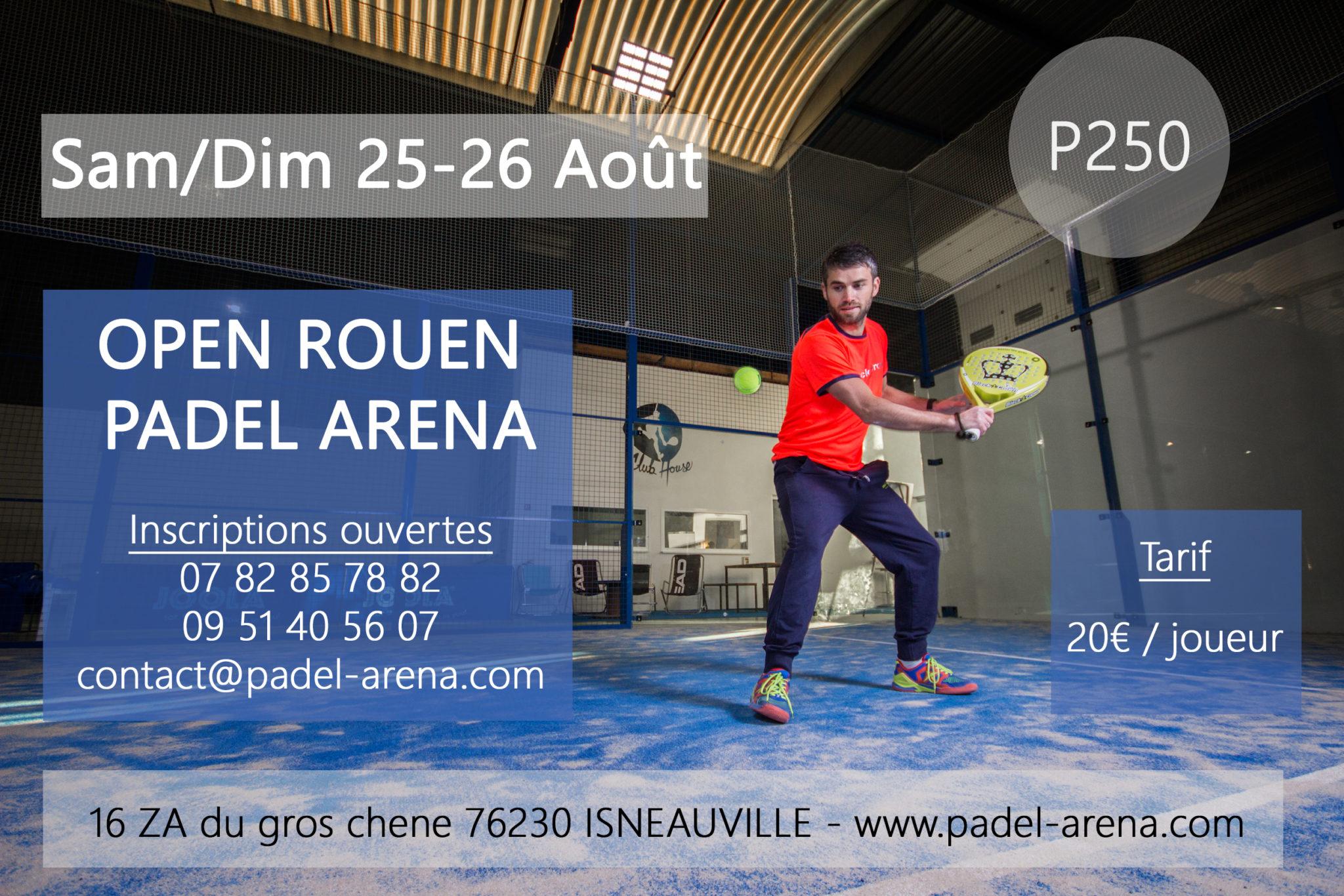 Prêt pour l'Open Padel Arena le 25 et 26 août ?