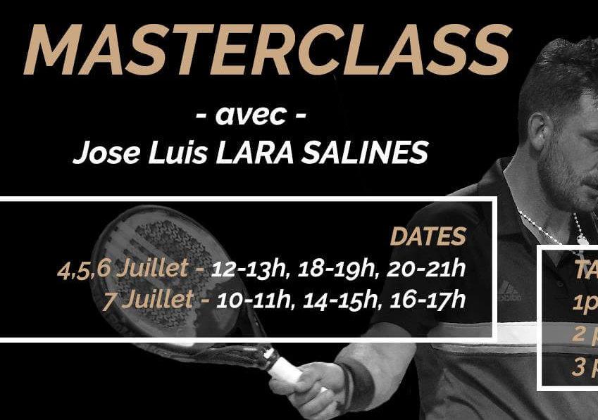 MASTERCLASS de padel avec Jose Luis LARA SALINES